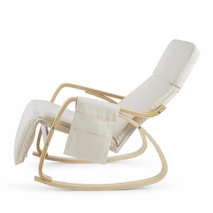 Sedia a Dondolo regolabile in legno RELAX ergonomica per Casa e Salotto - offert