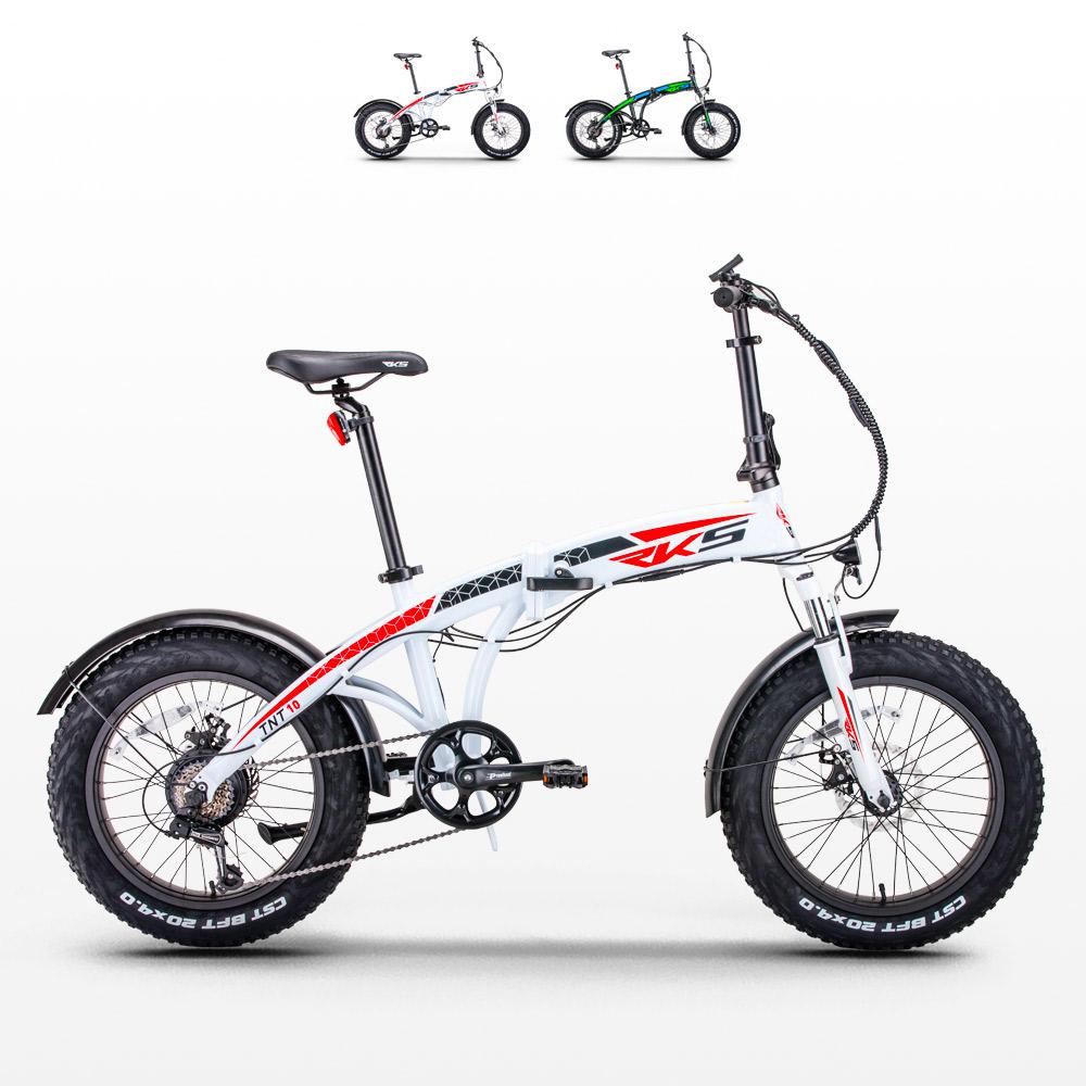 Bici bicicletta elettrica ebike pieghevole Tnt10 Rks Shimano