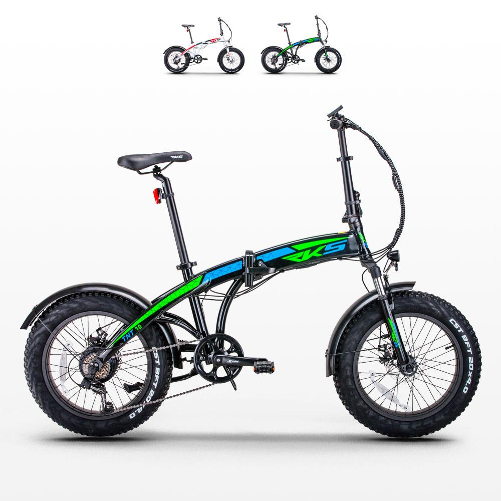 Bici bicicletta elettrica ebike pieghevole Tnt10 Rks Shimano - promo