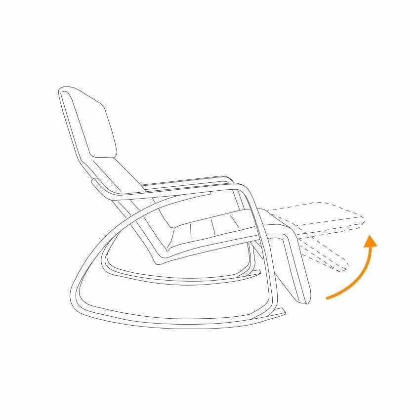 Sedia a Dondolo regolabile in legno RELAX ergonomica per Casa e Salotto - image