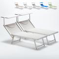 2 Lettini spiaggia mare prendisole professionali in alluminio Italia