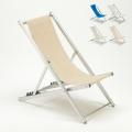 Sedia sdraio spiaggia mare in alluminio pieghevole Riccione
