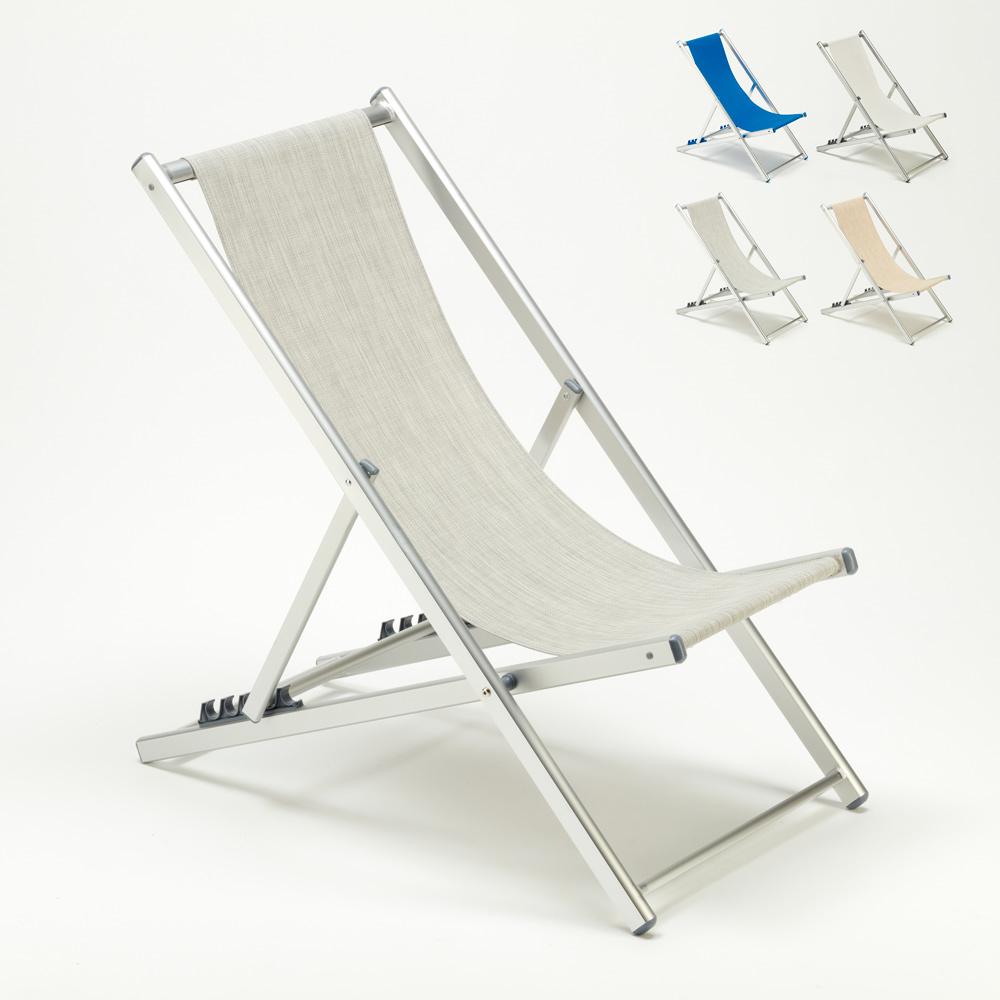 Sedie Sdraio Pieghevoli Alluminio.Sedia Sdraio Da Spiaggia Mare In Alluminio Pieghevole Riccione