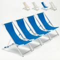 4 Sedie sdraio mare spiaggia e piscina alluminio Riccione