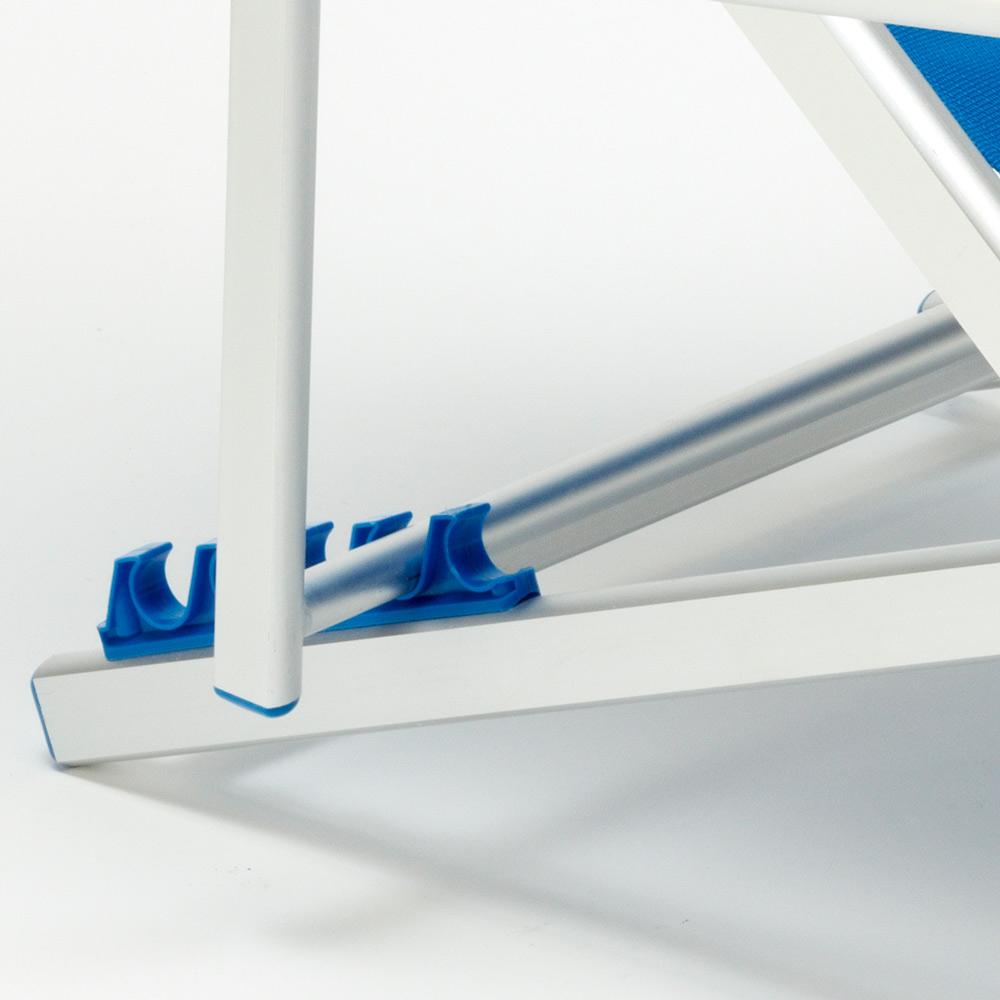 miniatura 42 - Sedia sdraio mare spiaggia richiudibile braccioli alluminio piscina RICCIONE LUX