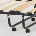 Brandina letto pieghevole con materasso ruote e doghe 80x190 ARES - sales