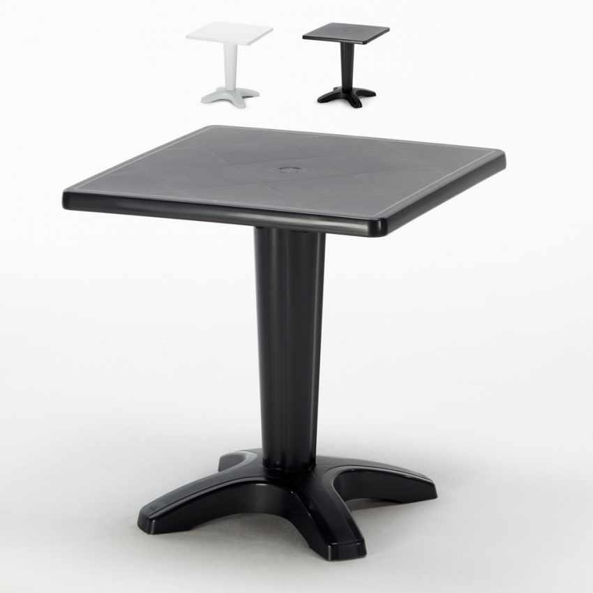 Table de Jardin bar Grand Soleil ZAVOR cafè bar exterieur carré  polypropylene 70x70