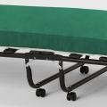 Brandina letto pieghevole con materasso ruote e doghe 80x190 ARES - forniture
