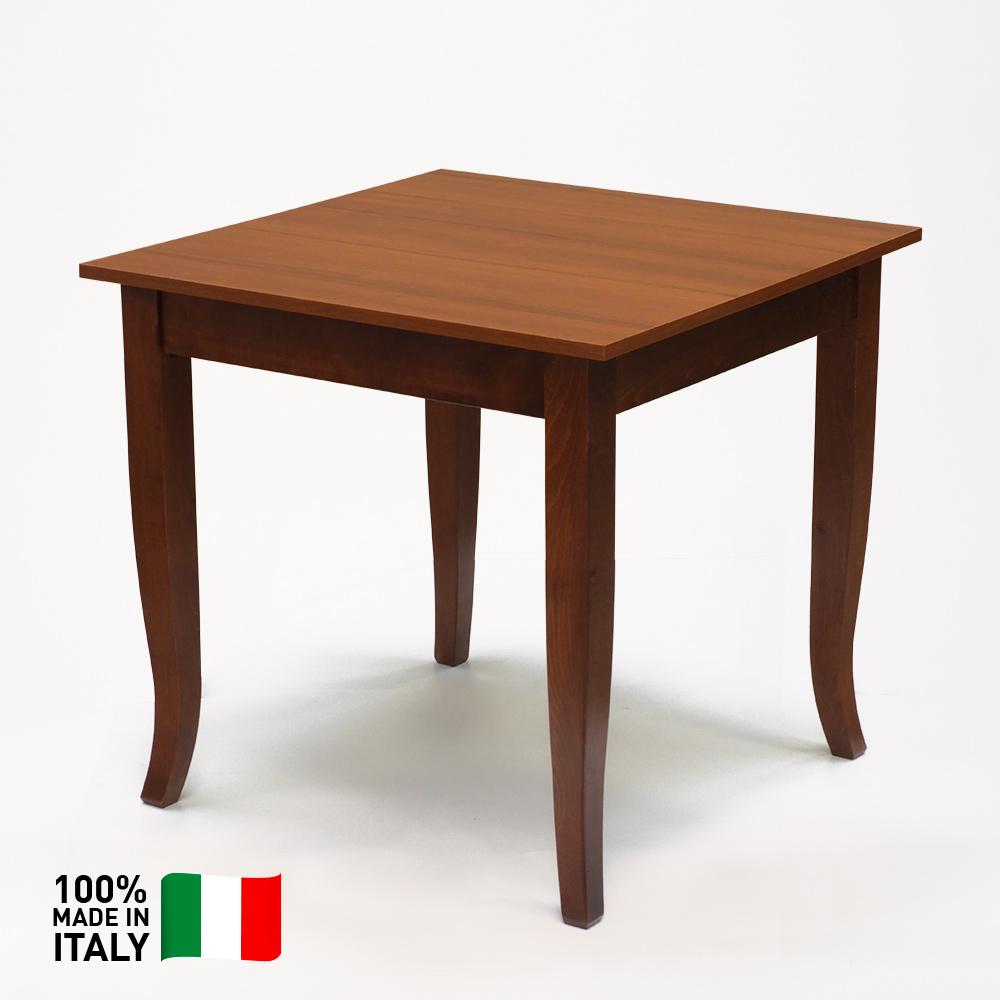 Gerry Tavolo In Legno Massello Per Trattoria Bar E Ristorante 80x80cm