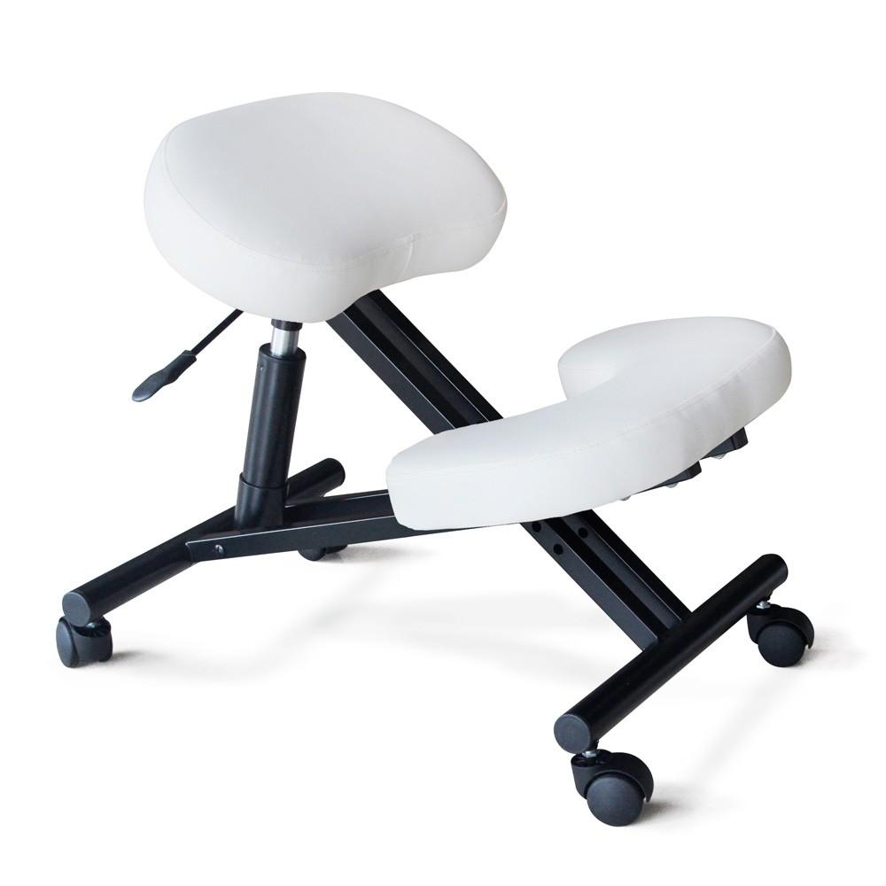 Sedia-ortopedica-sgabello-svedese-metallo-ufficio-ergonomica-BALANCESTEEL miniatura 14
