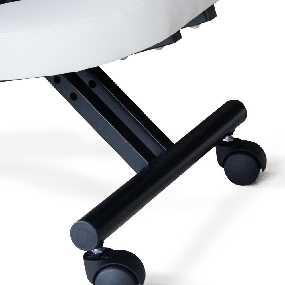 Sedia-ortopedica-sgabello-svedese-metallo-ufficio-ergonomica-BALANCESTEEL miniatura 15