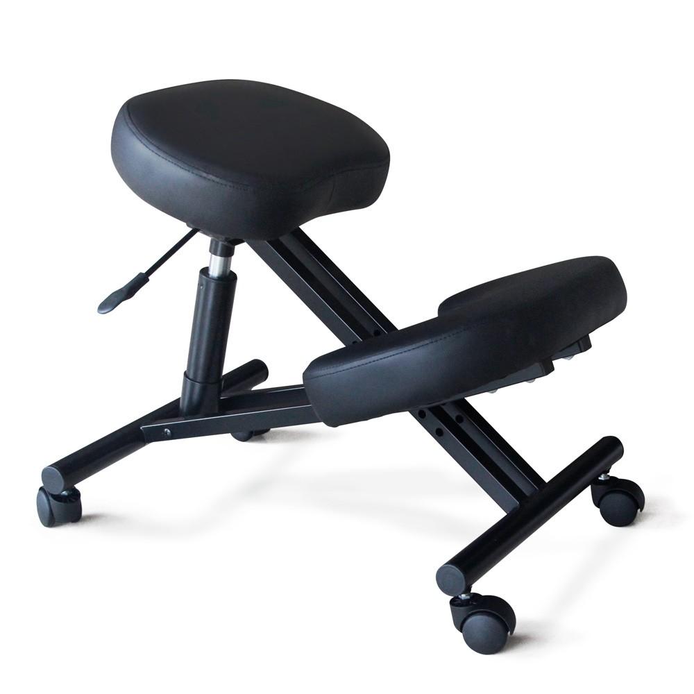 Sedia-ortopedica-sgabello-svedese-metallo-ufficio-ergonomica-BALANCESTEEL miniatura 10