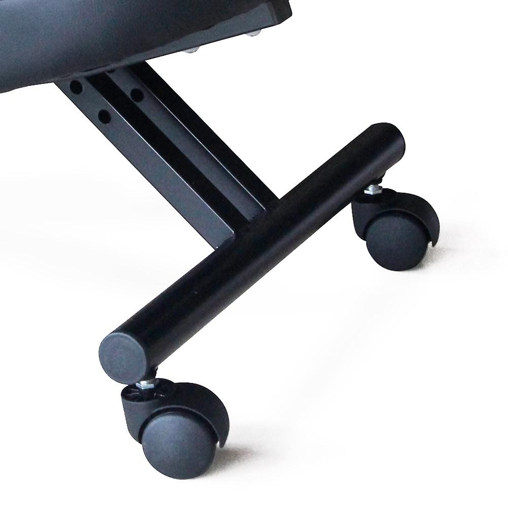 Sedia-ortopedica-sgabello-svedese-metallo-ufficio-ergonomica-BALANCESTEEL miniatura 12
