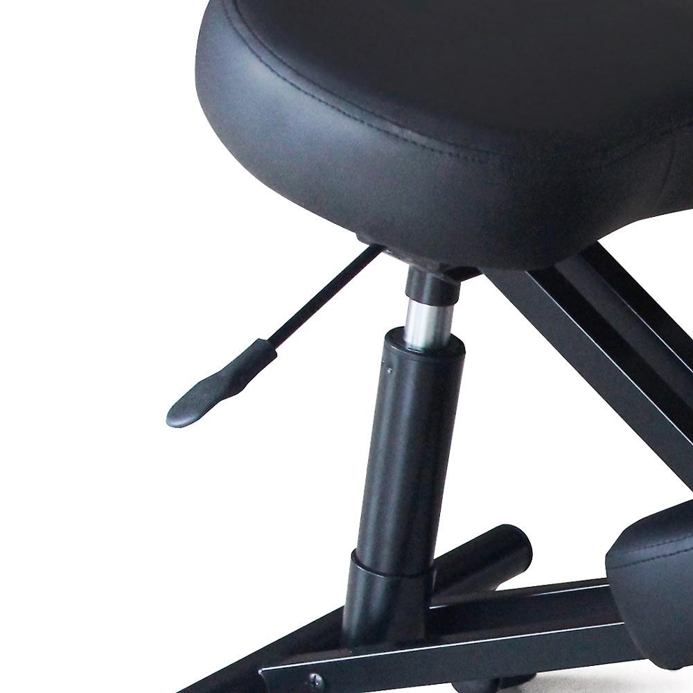 Sedia-ortopedica-sgabello-svedese-metallo-ufficio-ergonomica-BALANCESTEEL miniatura 11