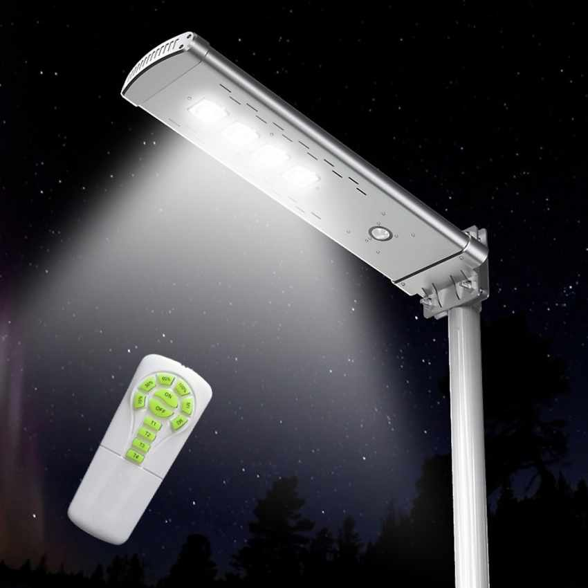 Lampione Stradale Solare LED 3000 Lumen con Telecomando SMART OPTIUM - indoor
