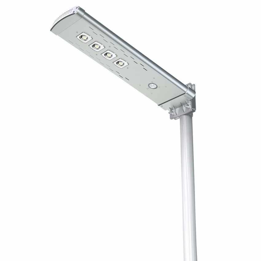 Lampione Solare LED 3K Lumen con Telecomando SMART OPTIUM - esterno
