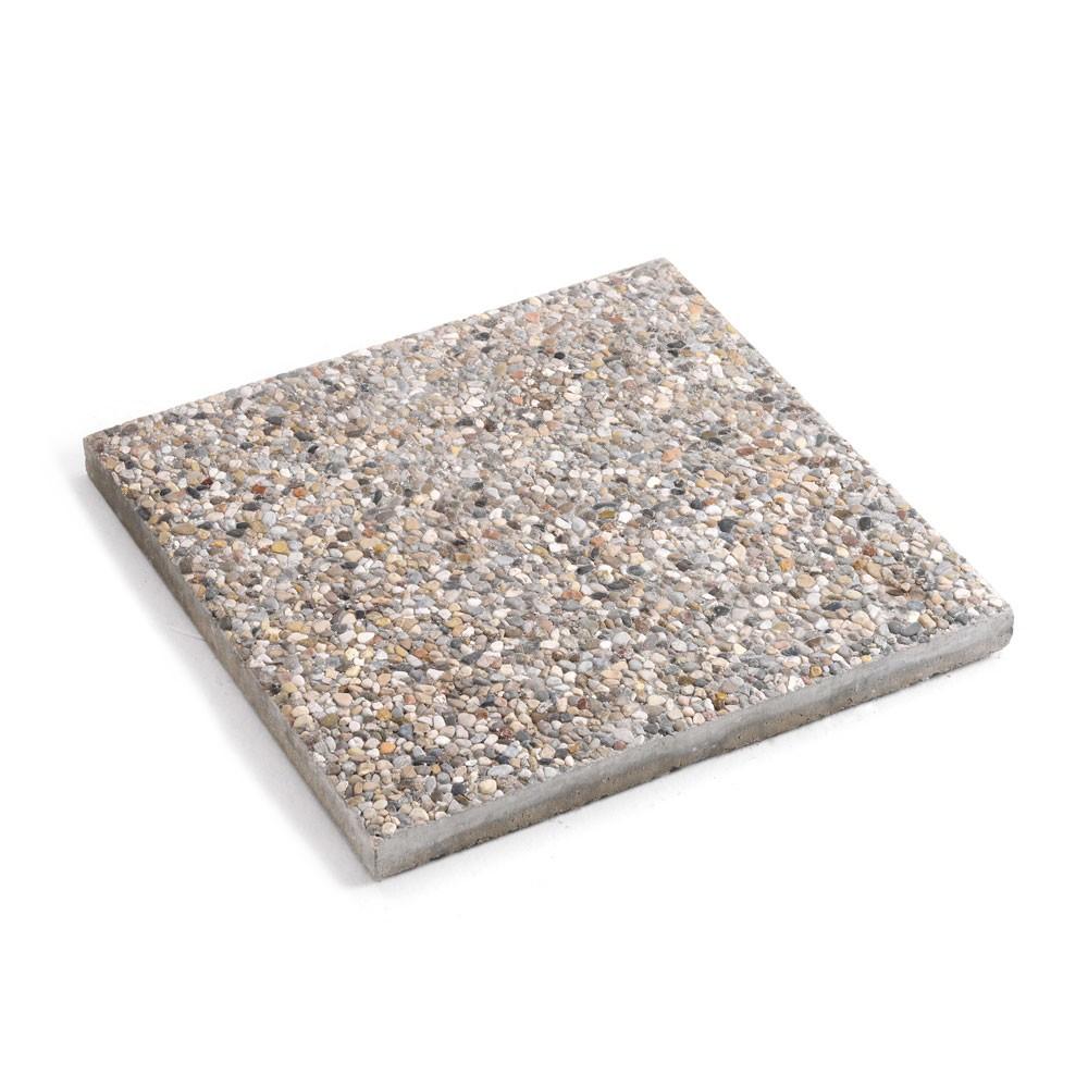 BA5050CE - Piastra base cemento ombrellone giardino mattonella basamento 50x50 -