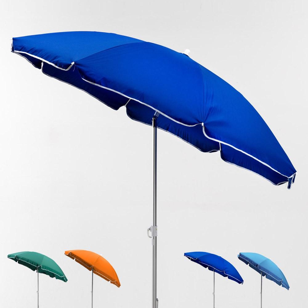 LI180POL - Ombrellone mare spiaggia alluminio 180 cm leggero Lignano -