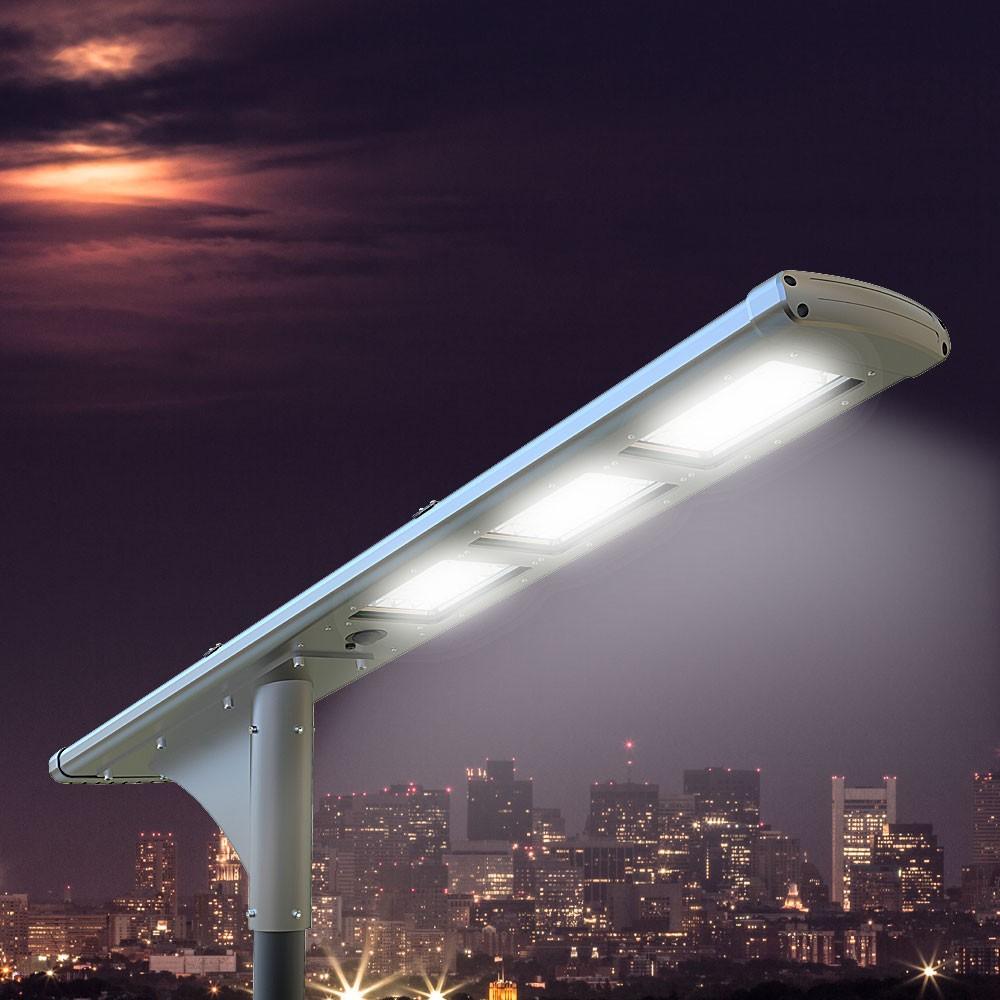 Lampione stradale solare Fullmoon 72 Super Led 5000 Lumen per Strade e Parcheggi - promo
