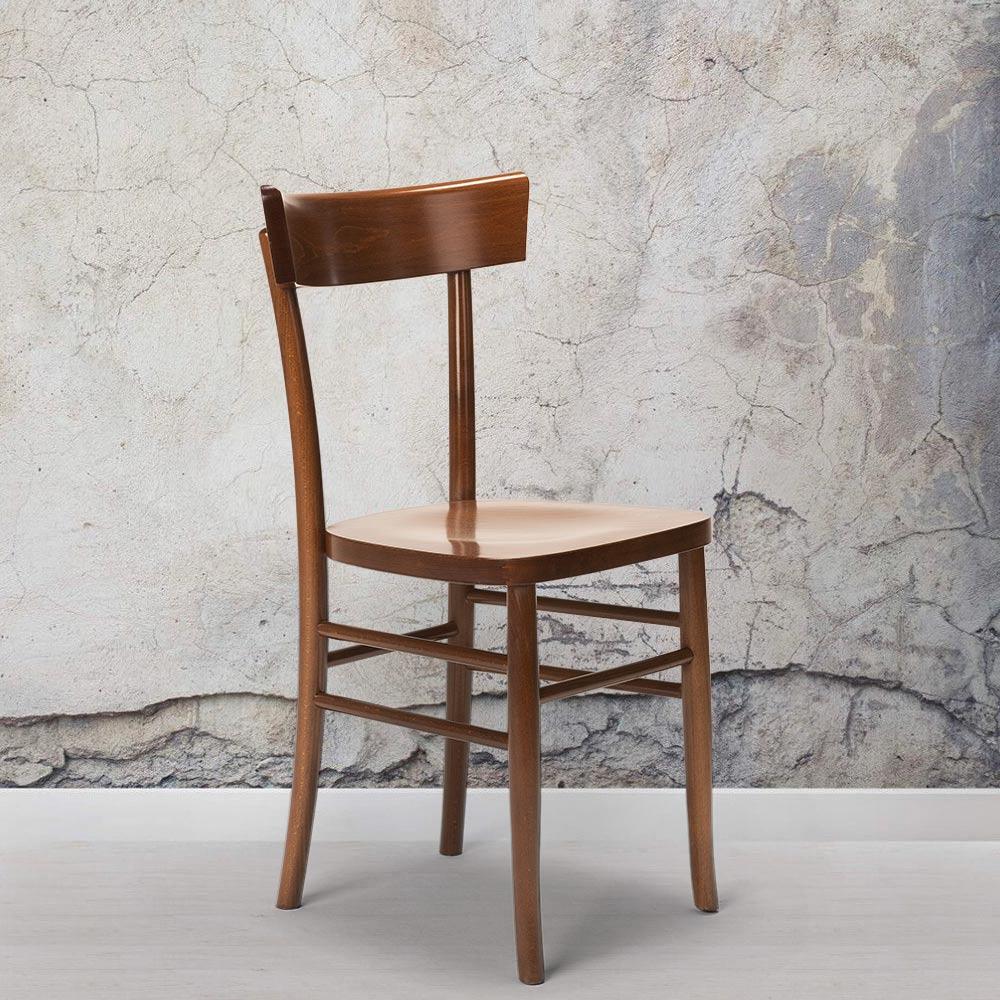 Sedia in legno classica rustica per sala da pranzo cucina ...