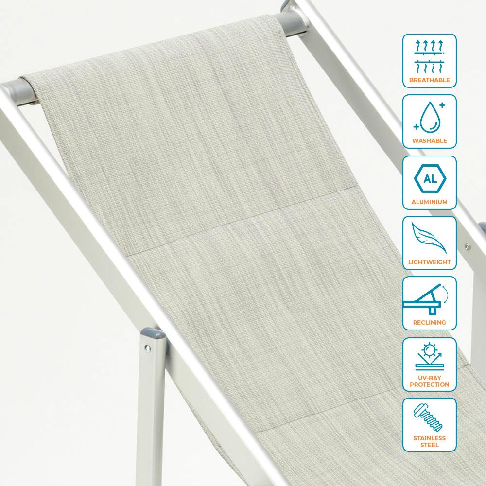 miniatura 6 - Sedia sdraio mare spiaggia richiudibile braccioli alluminio piscina RICCIONE LUX