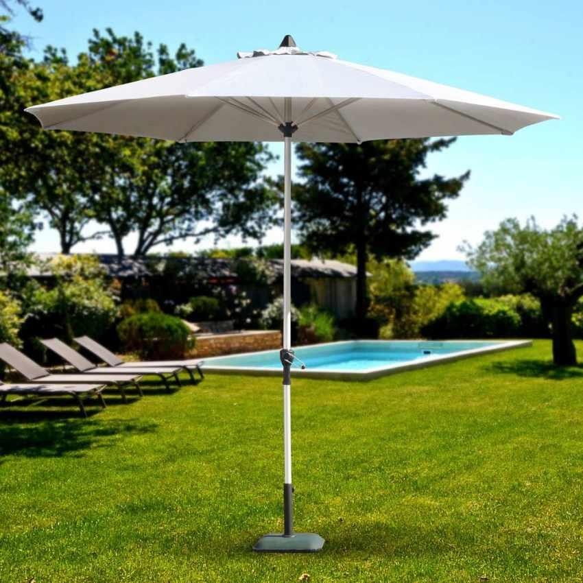 parasol a mât central 3 mt terrasse jardin octogonal eden
