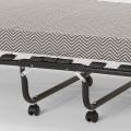 Brandina letto pieghevole con materasso e doghe microfibra 80x190 APOLLO - outdoor