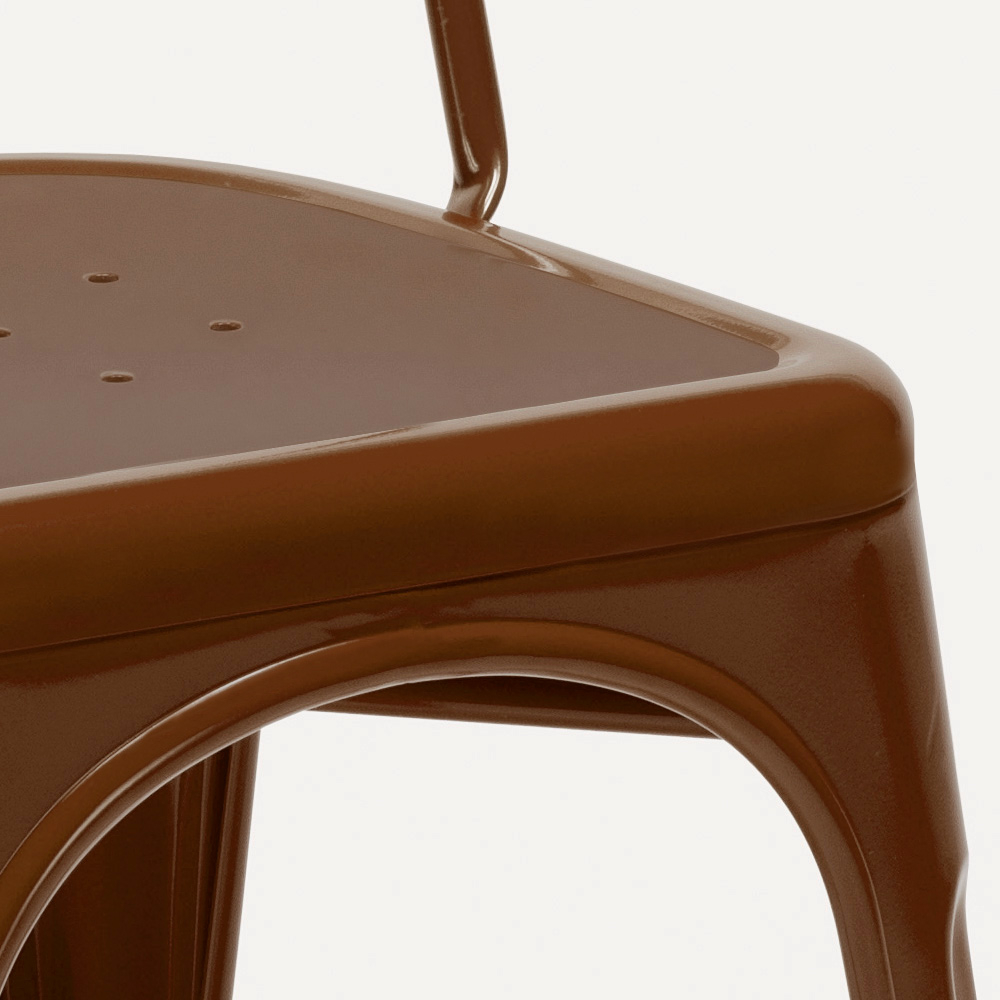 miniatura 60 - Sedie Tolix industrial metallo e acciaio per cucina e bar Steel One