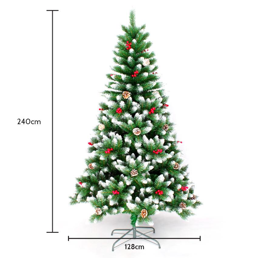 Albero Di Natale 94.Oslo Albero Di Natale Artificiale 240 Cm Addobbato Con Decorazioni