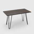 Tavolo da pranzo 120x60 design tolix industriale metallo legno rettangolare Prandium