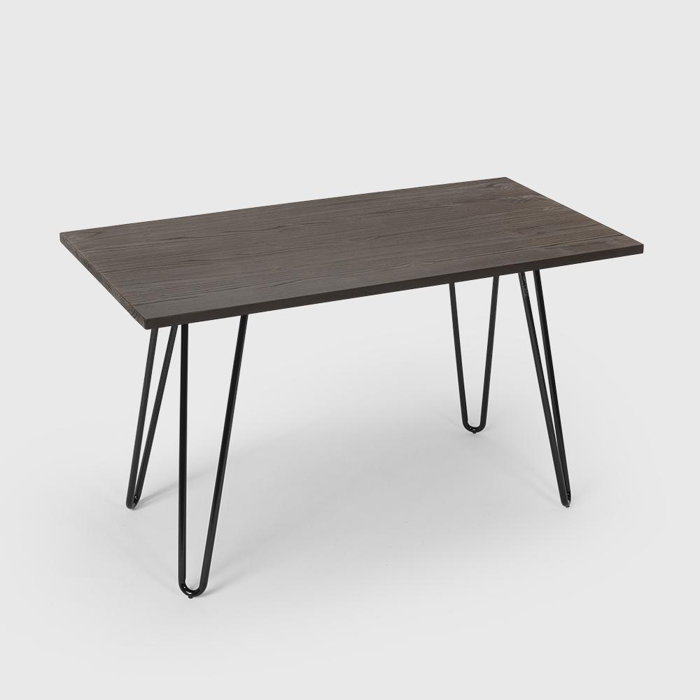 Tavolo da pranzo 120x60 industriale metallo legno rettangolare PRANDIUM - best