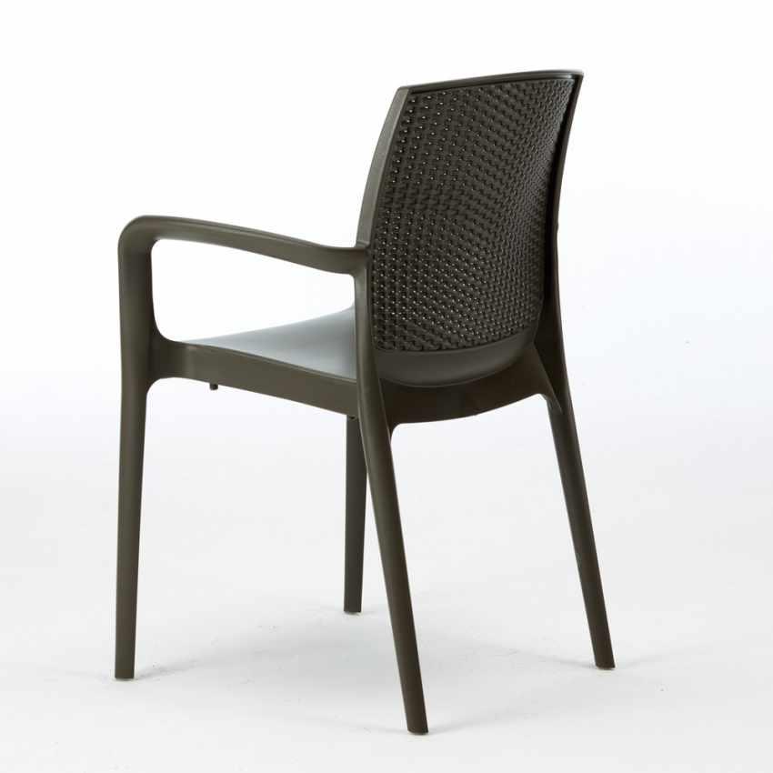 18er Set Polyrattan Stuhl mit Armlehne für Café Restaurant BOHEME Grand Soleil Sonderangebot - foto