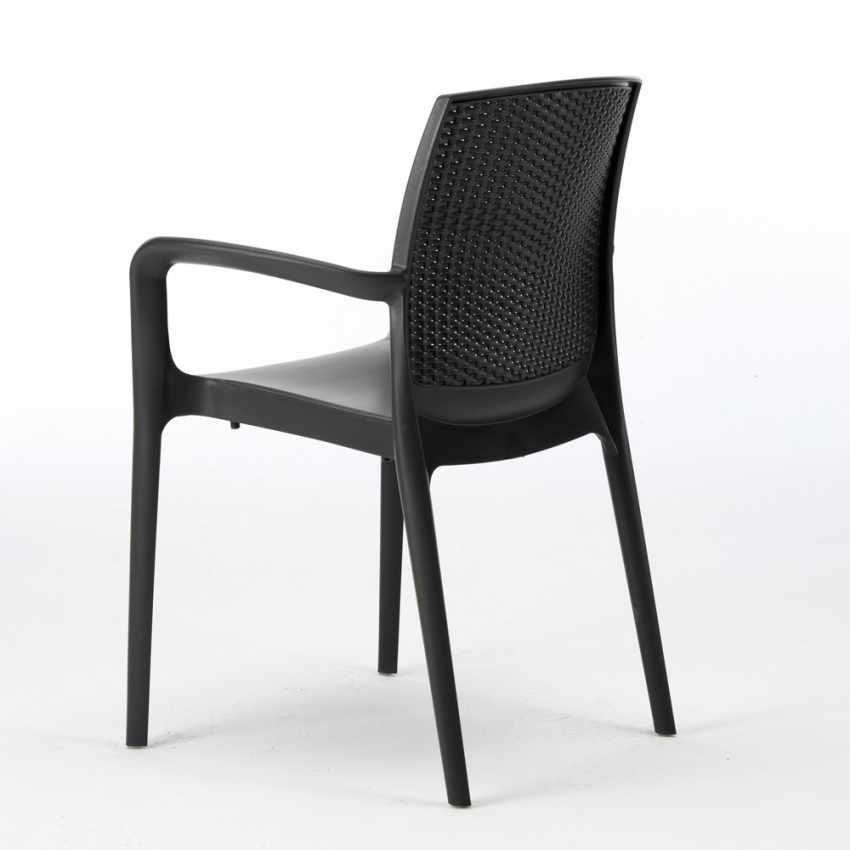 Poltrona Boheme Grand Soleil.Boheme Arm Stackable Chair With Armrests Wicker