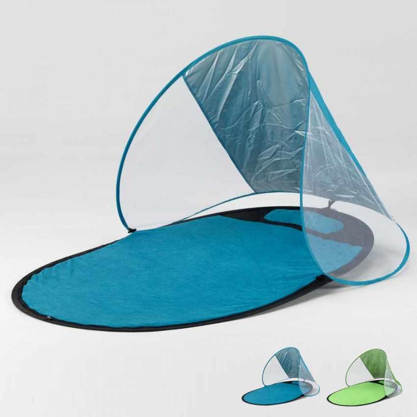 Serviette de plage avec parasol antiUV antivent antisable SEMPRESTESO - scontato