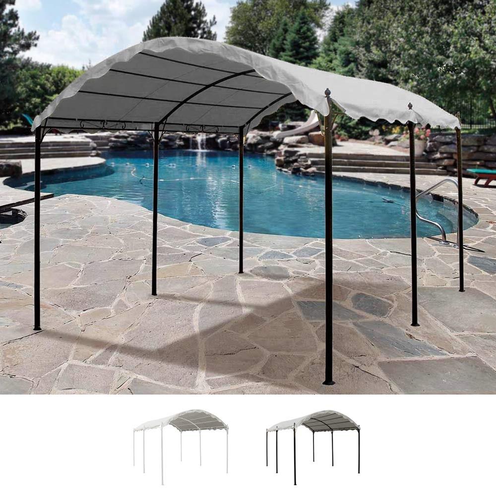 Gazebo 3x4 metri copertura auto bar giardino acciaio for Produceshop it