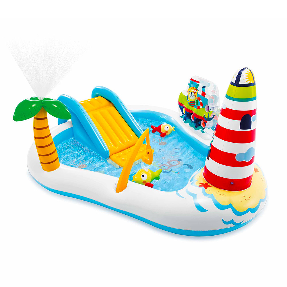 Piscina gonfiabile per bambini Intex 57162 Fishing Fun Play Center - am besten