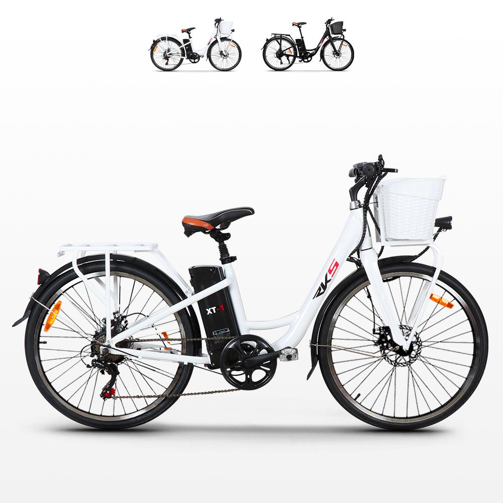 Bicicletta elettrica ebike da donna con cestino 250W RKS XT1 Shimano