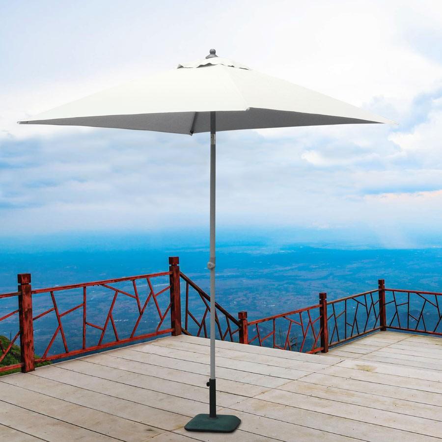 Ombrellone giardino 2x2 alluminio quadrato palo centrale bar hotel Plutone - Rabatt