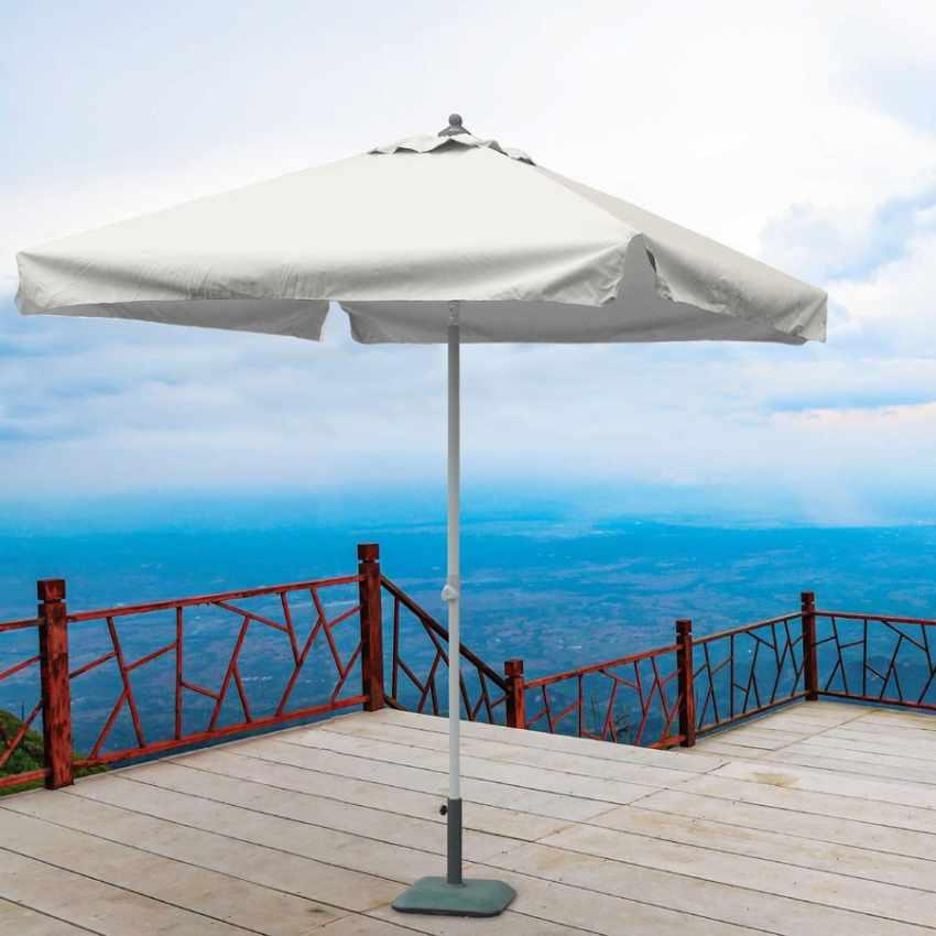 Parasol de jardin 2x2 aluminium carré pôle central bar hôtel PLUTONE - price
