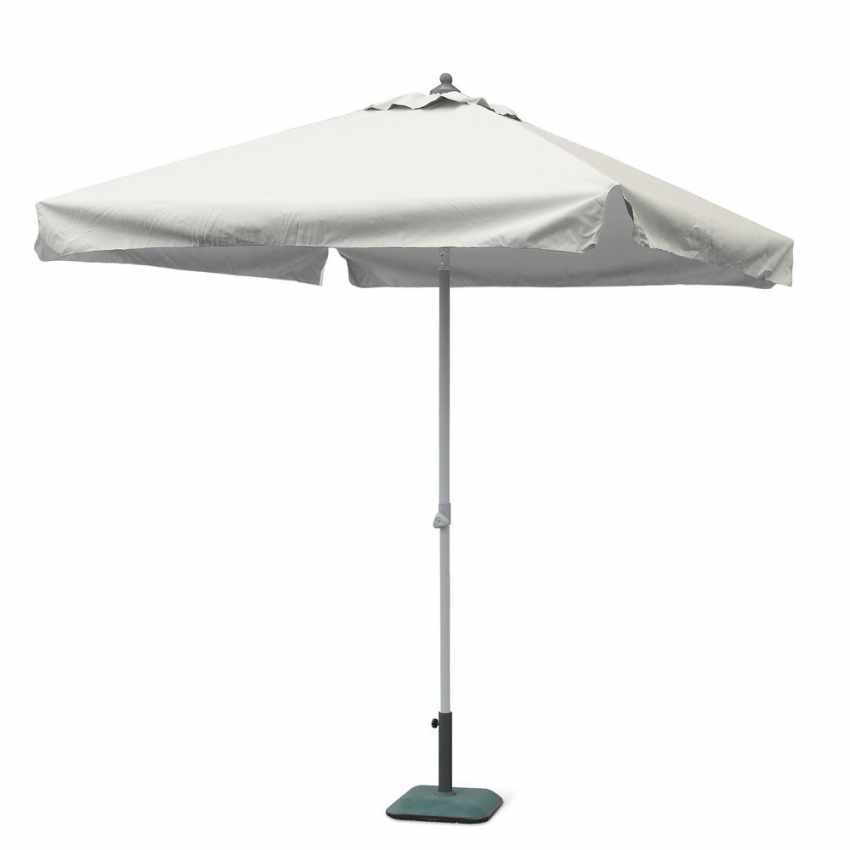 Parasol de jardin 2x2 aluminium carré pôle central bar hôtel PLUTONE - indoor