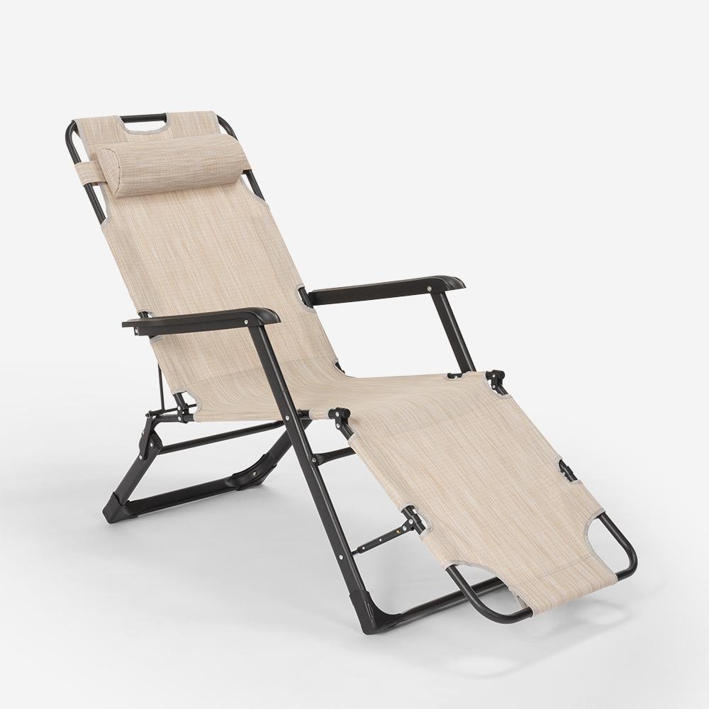 miniatura 15 - Sedia sdraio per spiaggia e giardino pieghevole multiposizione Emily Lux Zero Gr