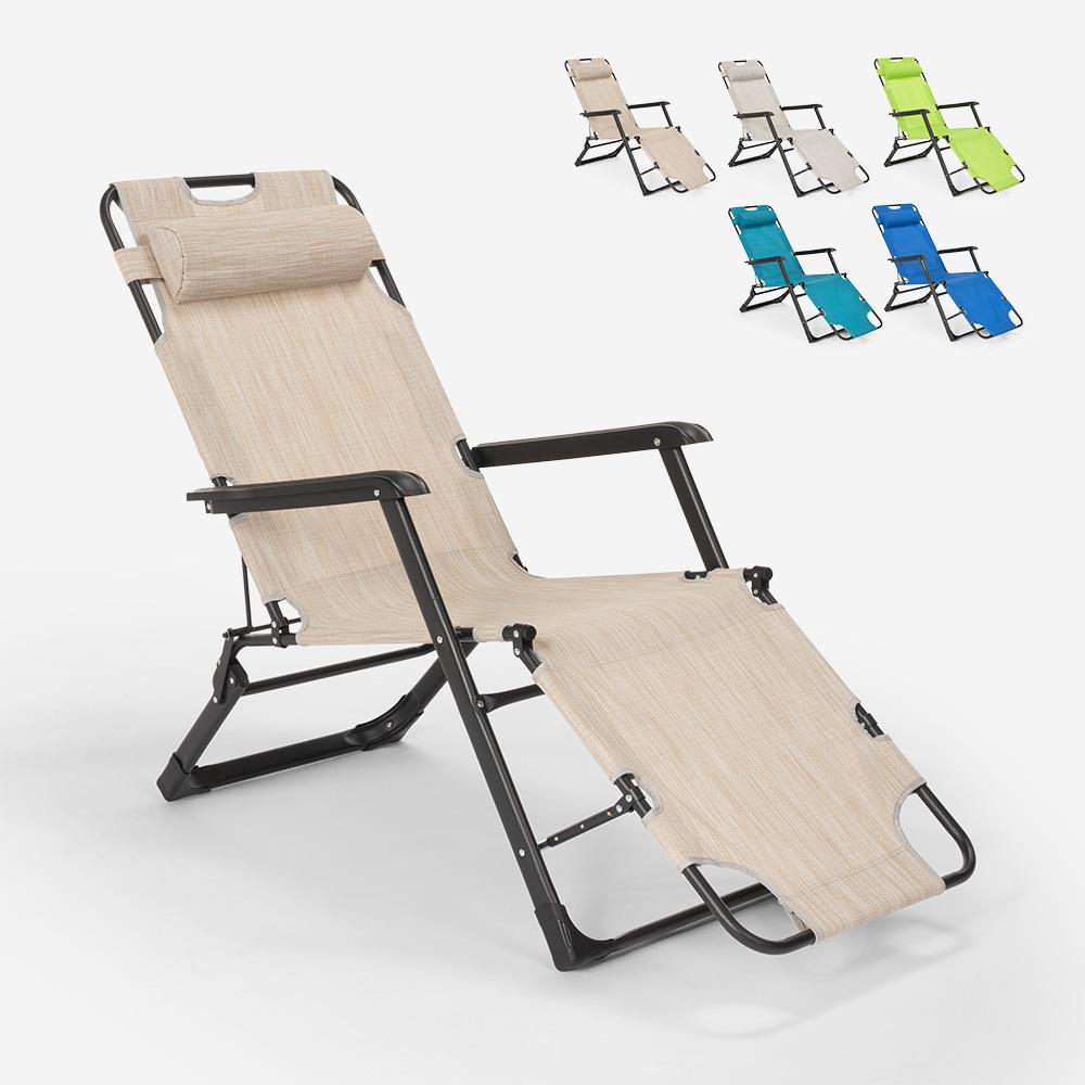 Sedia sdraio per spiaggia e giardino pieghevole multiposizione Emily Lux Zero Gravity