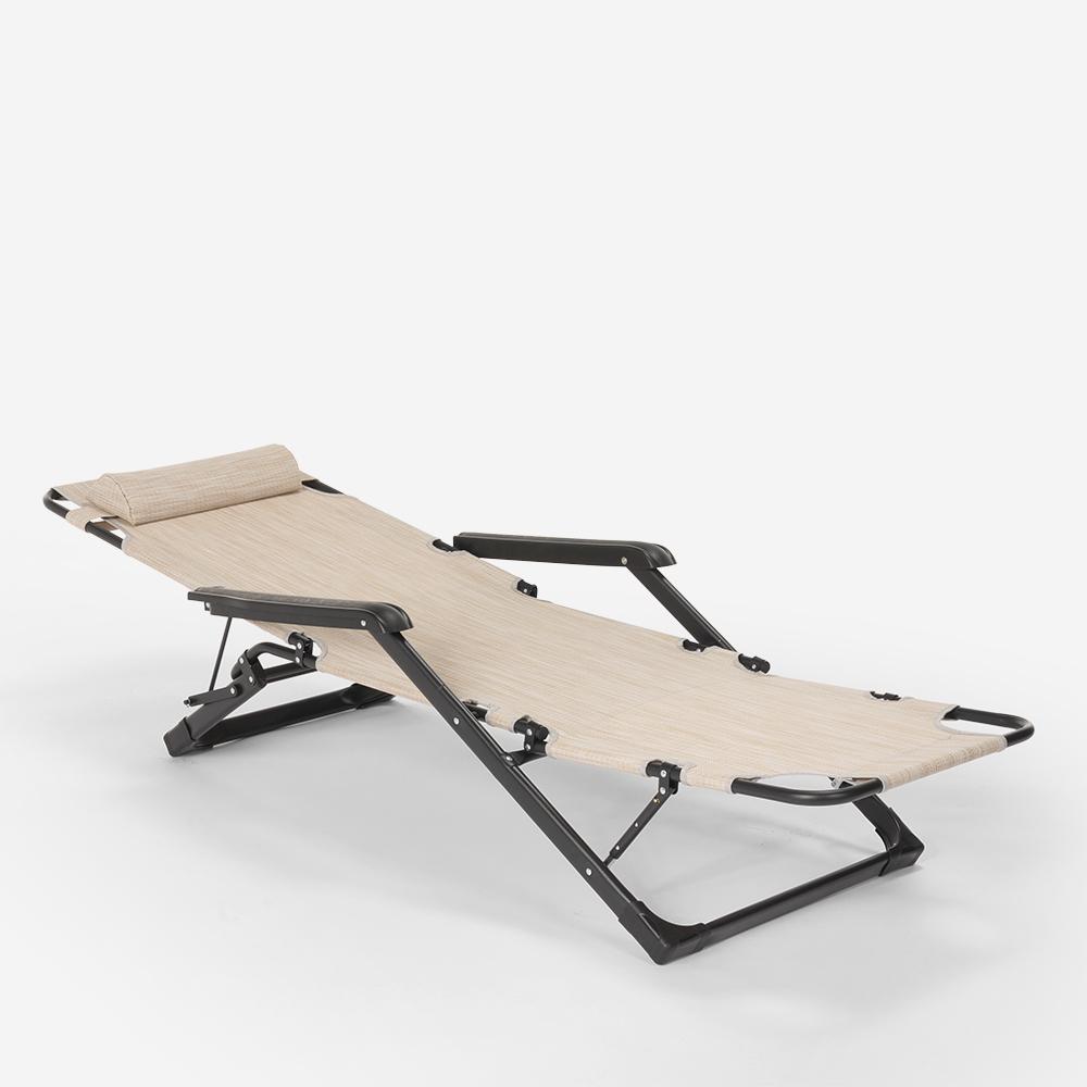 miniatura 17 - Sedia sdraio per spiaggia e giardino pieghevole multiposizione Emily Lux Zero Gr