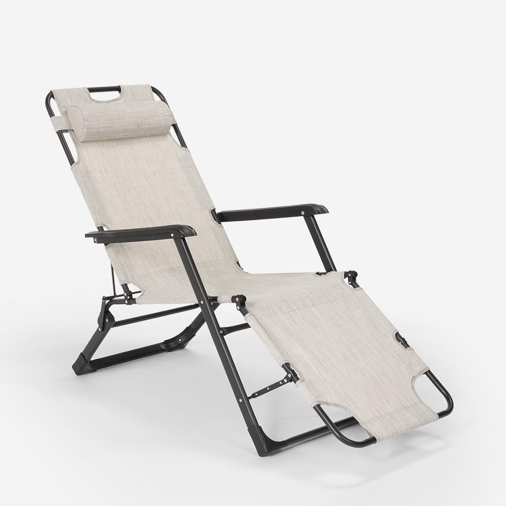 miniatura 42 - Sedia sdraio per spiaggia e giardino pieghevole multiposizione Emily Lux Zero Gr