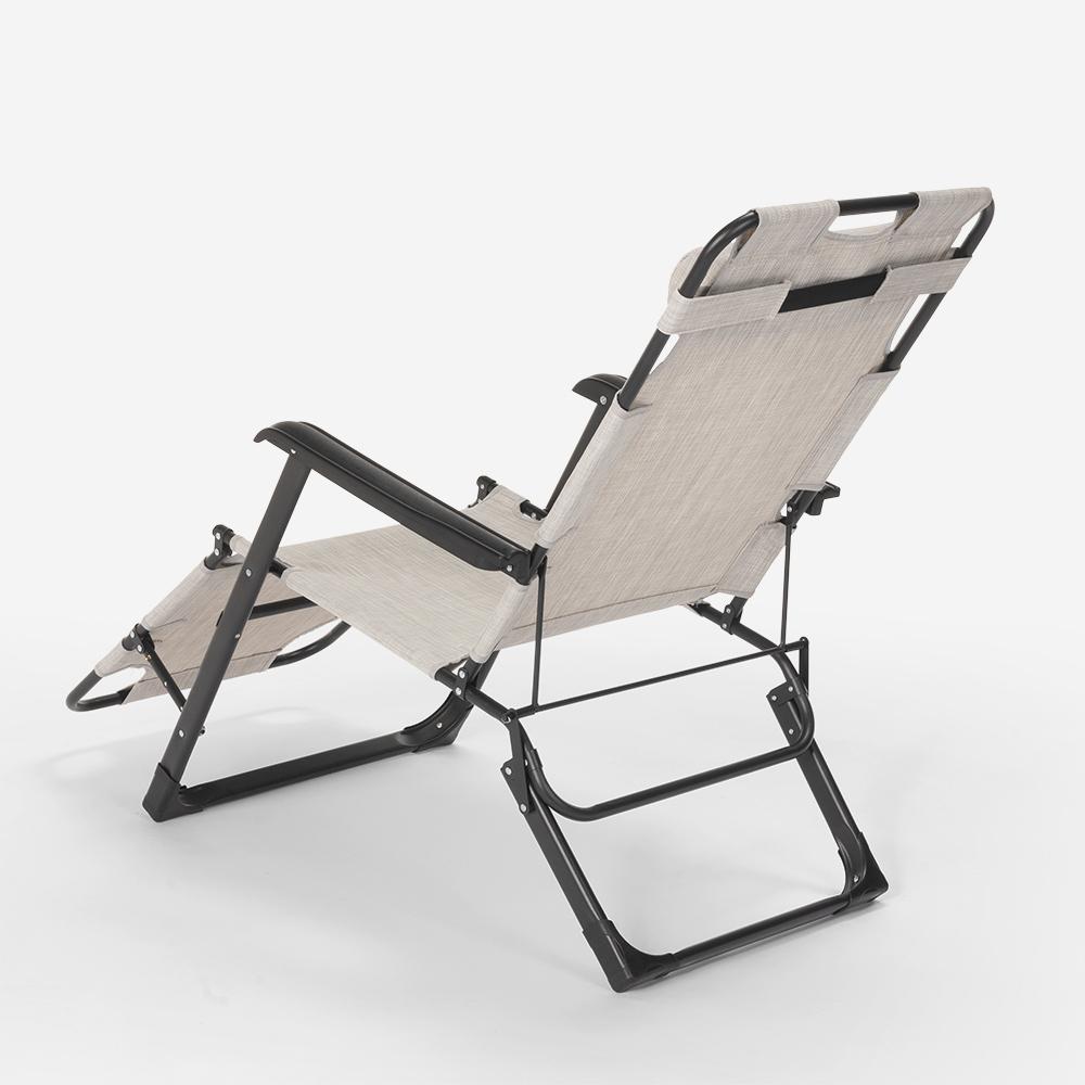 miniatura 45 - Sedia sdraio per spiaggia e giardino pieghevole multiposizione Emily Lux Zero Gr