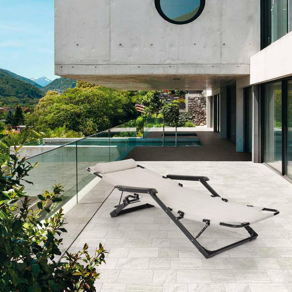 miniatura 41 - Sedia sdraio per spiaggia e giardino pieghevole multiposizione Emily Lux Zero Gr
