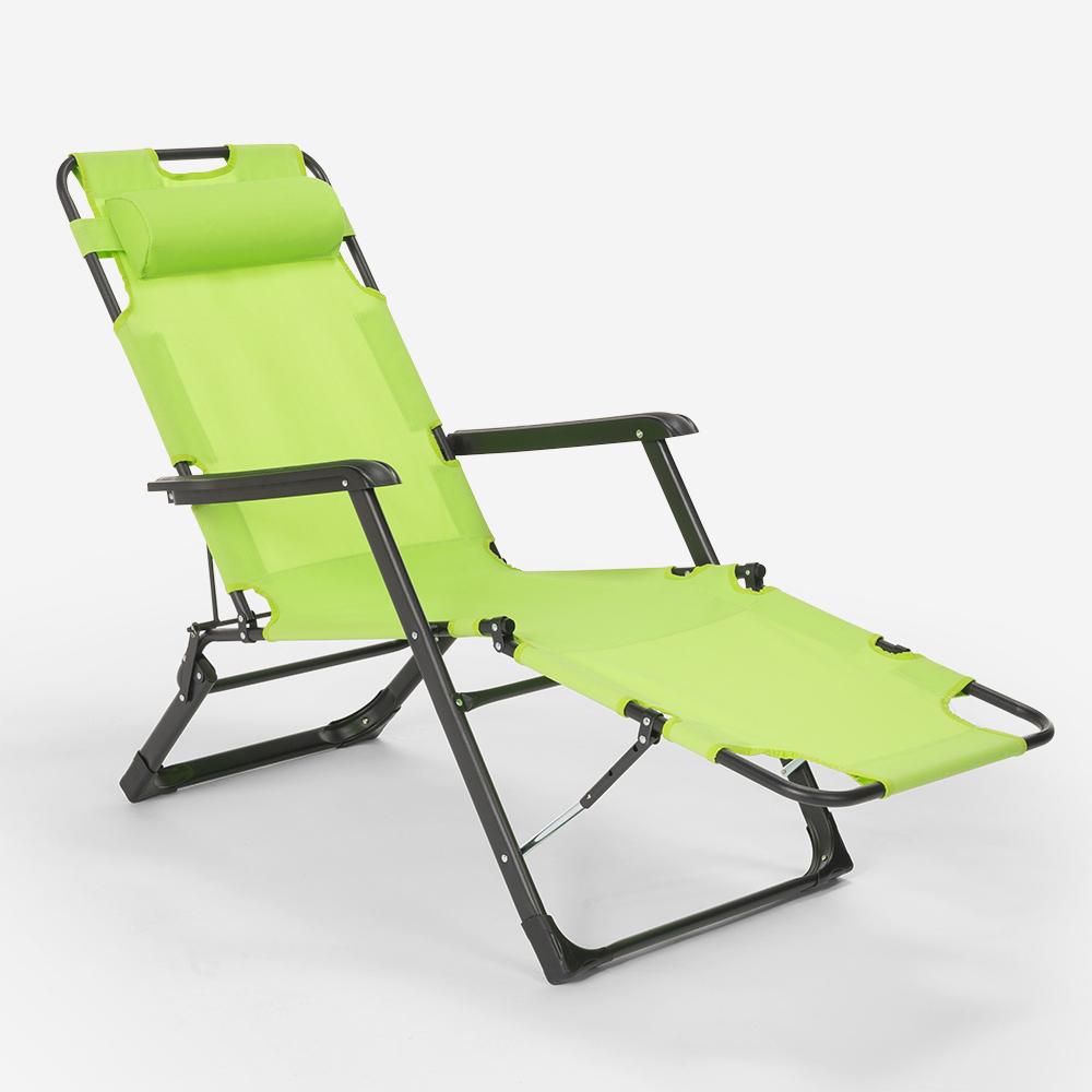 miniatura 34 - Sedia sdraio per spiaggia e giardino pieghevole multiposizione Emily Lux Zero Gr