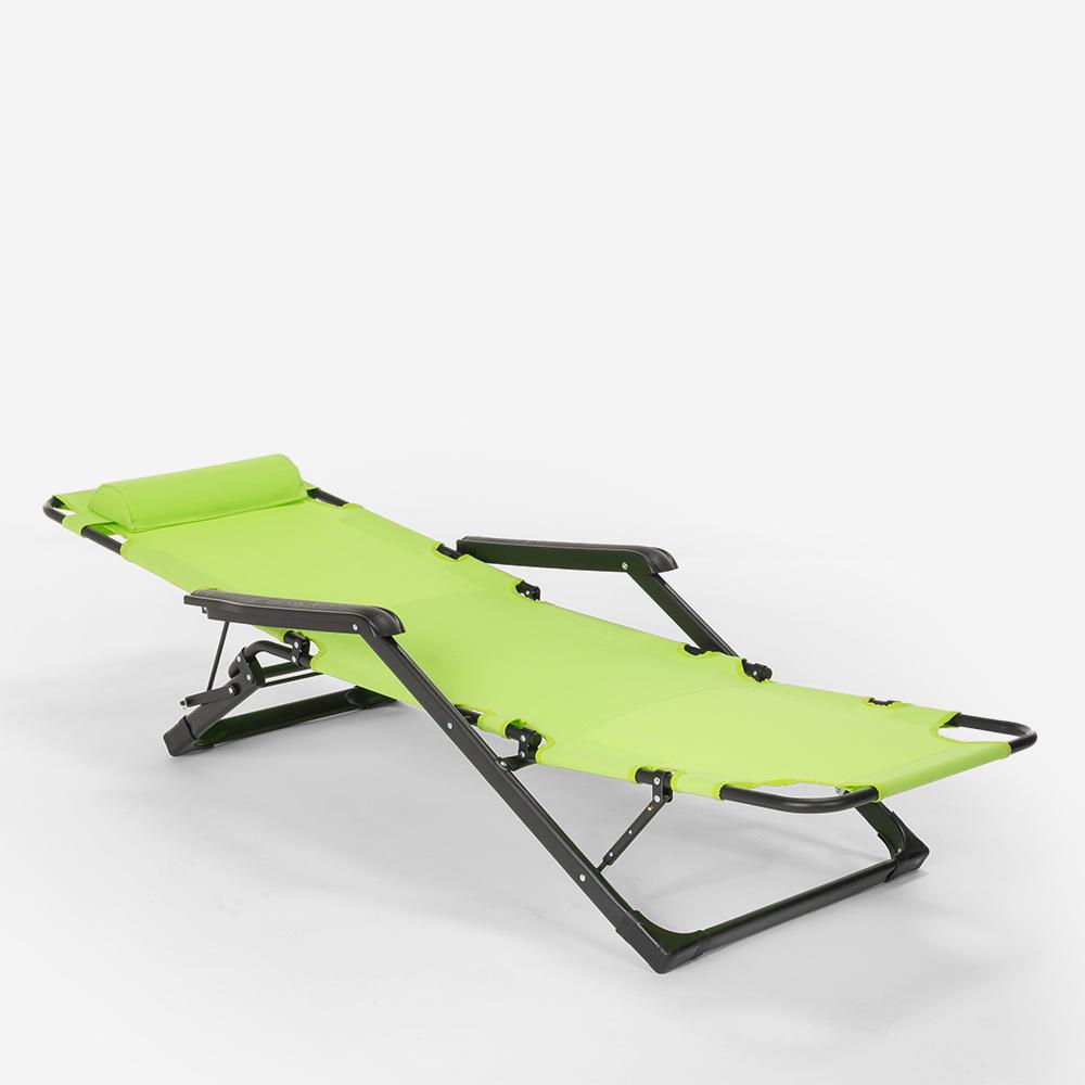 miniatura 35 - Sedia sdraio per spiaggia e giardino pieghevole multiposizione Emily Lux Zero Gr