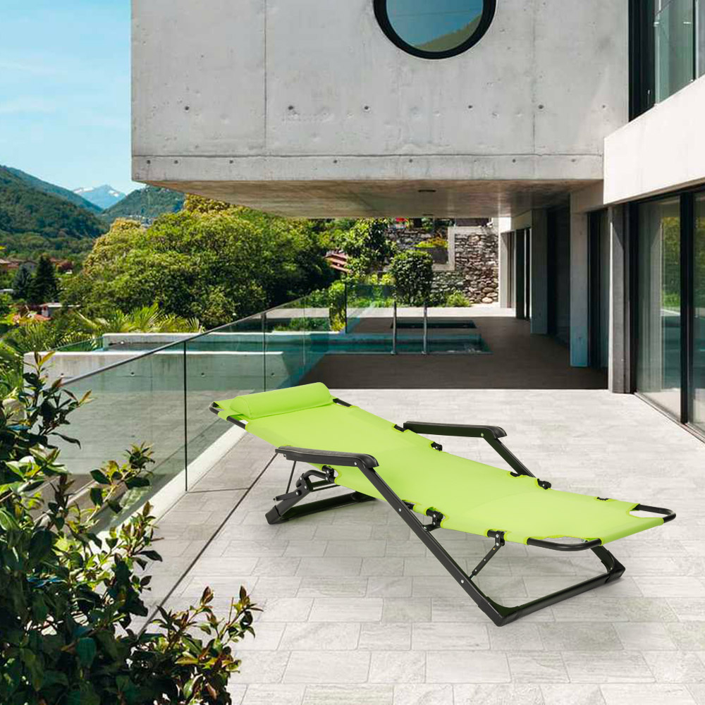 miniatura 32 - Sedia sdraio per spiaggia e giardino pieghevole multiposizione Emily Lux Zero Gr
