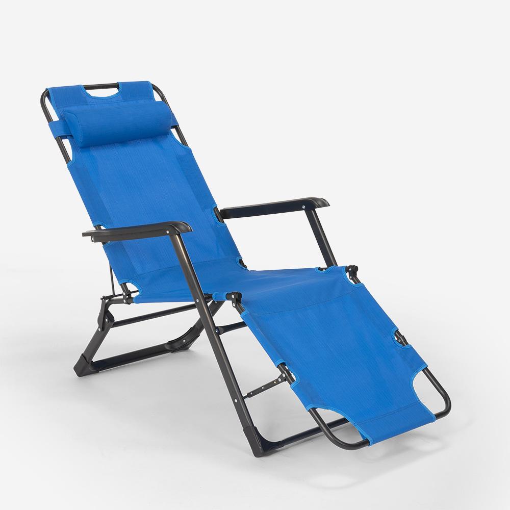 miniatura 24 - Sedia sdraio per spiaggia e giardino pieghevole multiposizione Emily Lux Zero Gr